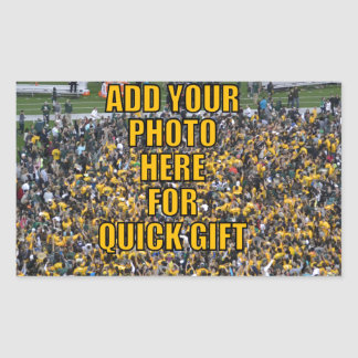 BLANK TEMPLATE FOR YOUR PHOTO EASY 5 MINUTE GIFT ! RECTANGULAR STICKER
