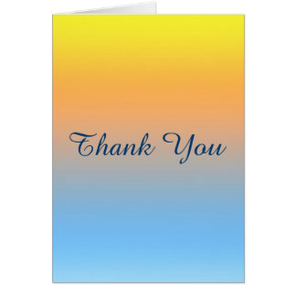 Blank Thank you Sunset Beach Colored Card
