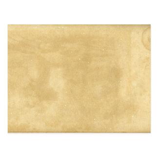 Blank Vintage Aged Paper Postcard