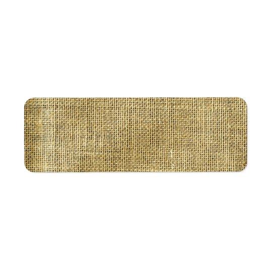 Blank Vintage Beige Burlap Inspired Return Address Label