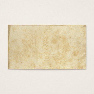 Blank Vintage Stained Ancient Parchment Business Card