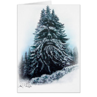 Blank winter king holiday greeting card