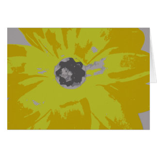 Blank Yellow Lily Notecard Note Card