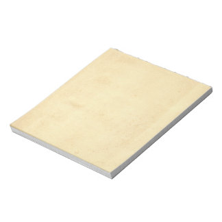 Blank Yellowed Antique Paper Notepad