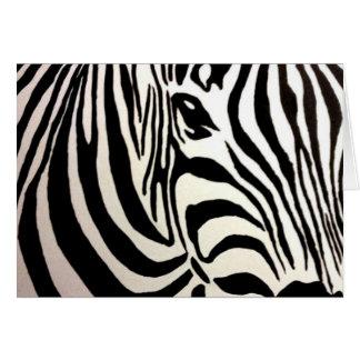 Blank Zebra Greeting Card