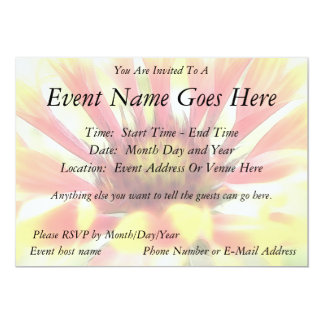 Blanket Flower Blossom Personalized Invite
