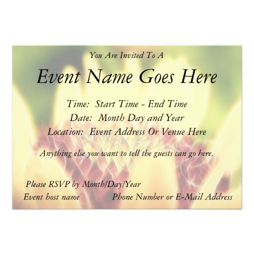 Blanket Flower Bud Personalized Invites