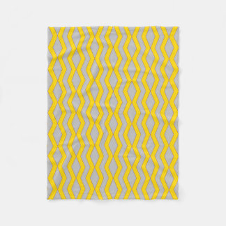 Blanket: Gold and Silver Diamonds Fleece Blanket