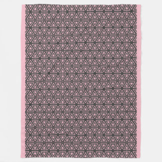 Blanket pink with gray pattern