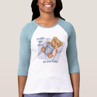 Blanket Teddy - Blue - New Mom of Boy Tshirts
