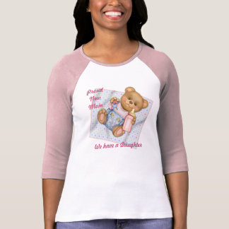 Blanket Teddy - Pink - New Mom of Girl T Shirts