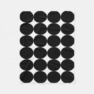 Blanket: White base, Black circles Fleece Blanket
