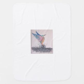 Blanket with bird design pramblanket