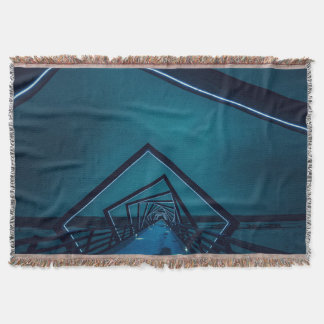 Blanket with image of a bridge