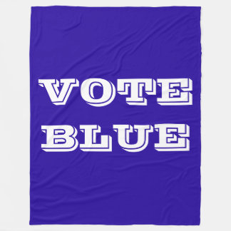 "BLANKET WITH ""VOTE BLUE"" IN LARGE LETTERS"