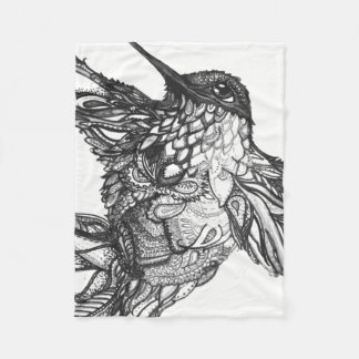 Blanket Zen Tangle Black and White Michele Zurine