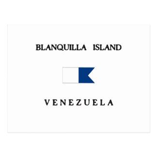 Blanquilla Island Venezuela Alpha Dive Flag Postcard