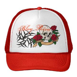 Blaq Riva Skull & Roses trucker hat