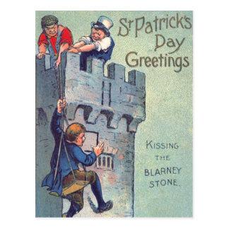 Blarney Castle Stone Kissing Postcard