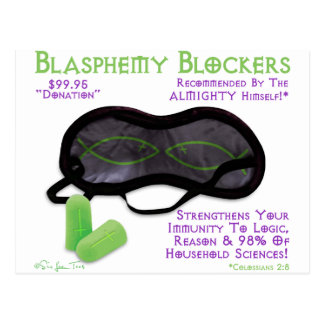 Blasphemy Blockers Postcard