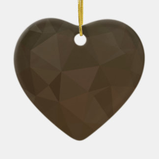 Blast Off Bronze Abstract Low Polygon Background Ceramic Heart Decoration