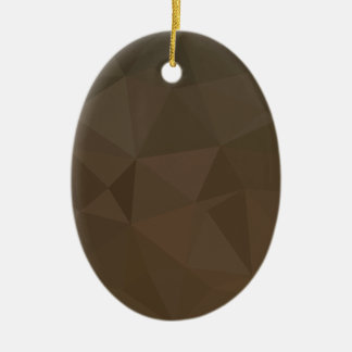 Blast Off Bronze Abstract Low Polygon Background Ceramic Oval Decoration