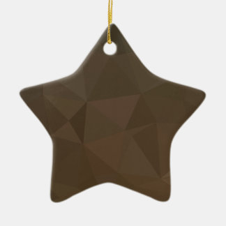 Blast Off Bronze Abstract Low Polygon Background Ceramic Star Decoration