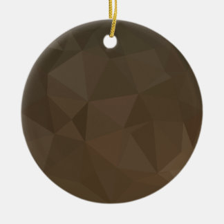 Blast Off Bronze Abstract Low Polygon Background Round Ceramic Decoration