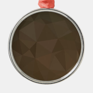Blast Off Bronze Abstract Low Polygon Background Silver-Colored Round Decoration
