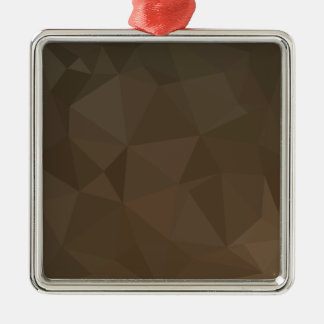 Blast Off Bronze Abstract Low Polygon Background Silver-Colored Square Decoration