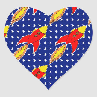 blast off heart sticker