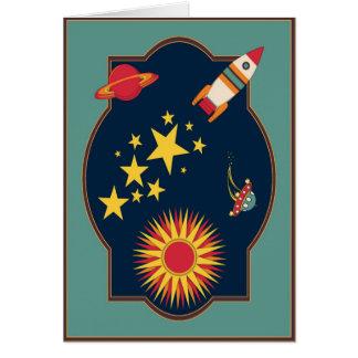 Blast Off Rocket Greeting Card