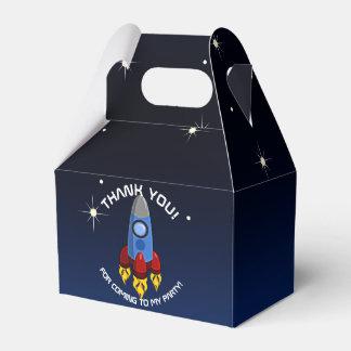 Blast Off Rocket Ship Birthday Party Favour Box