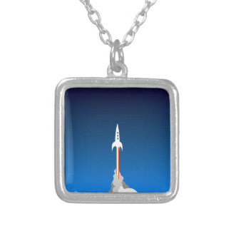 Blast Off! Silver Plated Necklace
