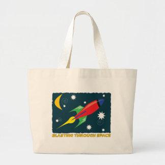 Blasting Through Space Large Tote Bag