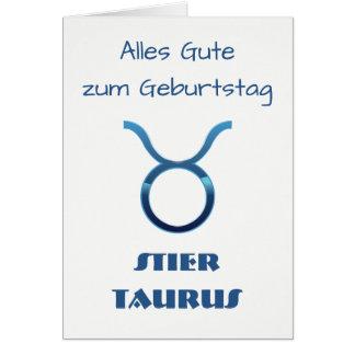 Blau Stier Taurus Zodiac Geburtstag Card