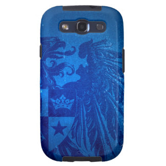 Blauer Kasten Adler-Wappen-Samsungs-Galaxie-S Galaxy S3 Covers