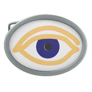 blaues Auge blue eye Belt Buckle