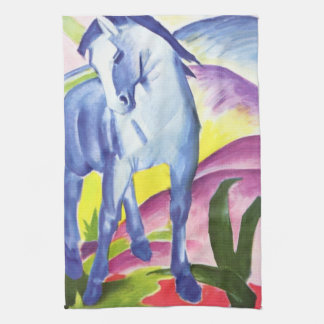 Blaues Pferd I by Franz Marc Kitchen Towel