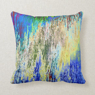 Blaugrundiges Dekokissen with abstract Design Cushion