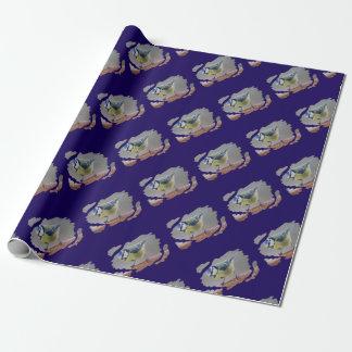 BLAUMEISE BLUETIT photo: Jean Louis Glineur Wrapping Paper