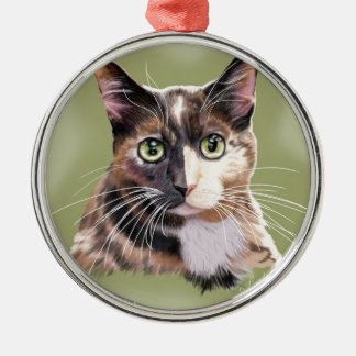 Blaze domestic short hair Silver-Colored round decoration