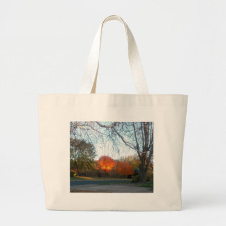 Blaze of Fall Large Tote Bag