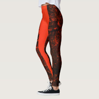 Blaze orange camo leggings