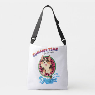 Blaze the corgi -Summertime Crossbody Bag