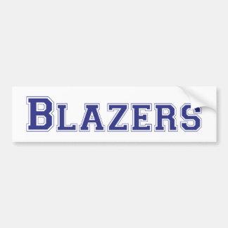 Blazers square logo in blue bumper sticker