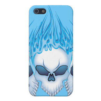 Blazing Blue Skull Case For The iPhone 5