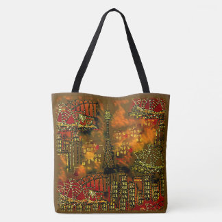 Blazing City Art Bag by Sequin Dreams Studio