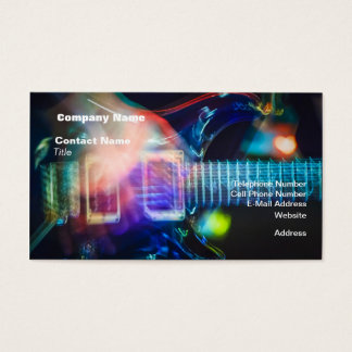 Blazing Electric Guitar Business Card
