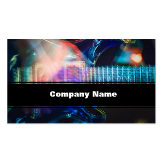 Blazing Electric Guitar Pack Of Standard Business Cards